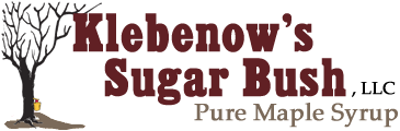 Pure Maple Syrup by Klebenow's Sugar Bush in Wisconsin